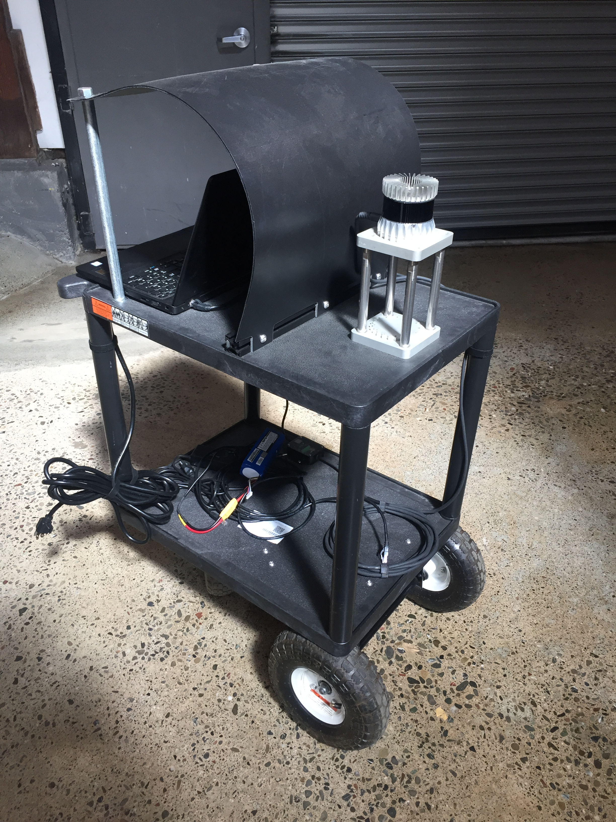 OS-1 Cart Mount for Data Collection