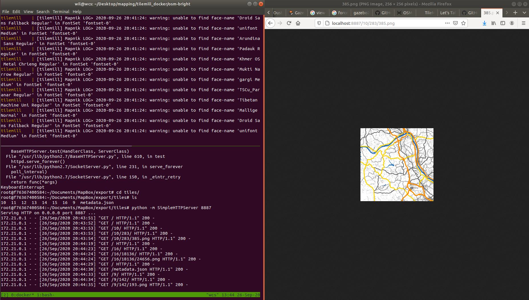 Python SimpleHTTPServer Serving Map Images
