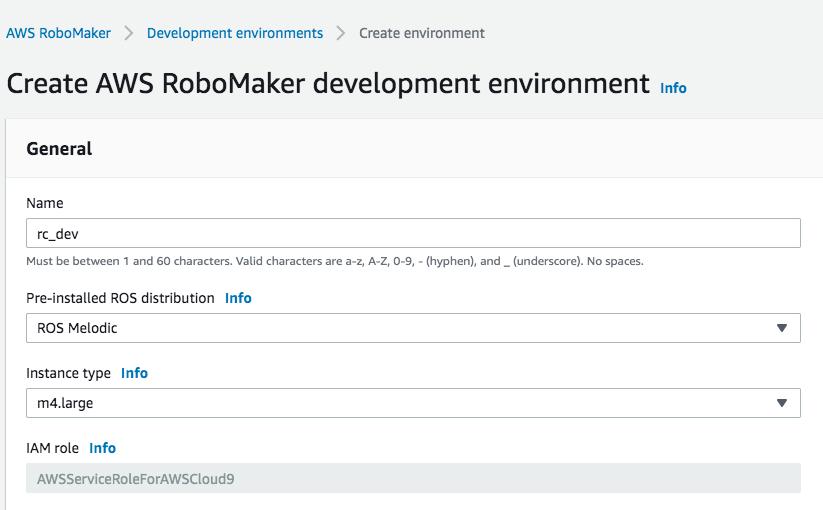 AWS RoboMaker Development Environment Setup