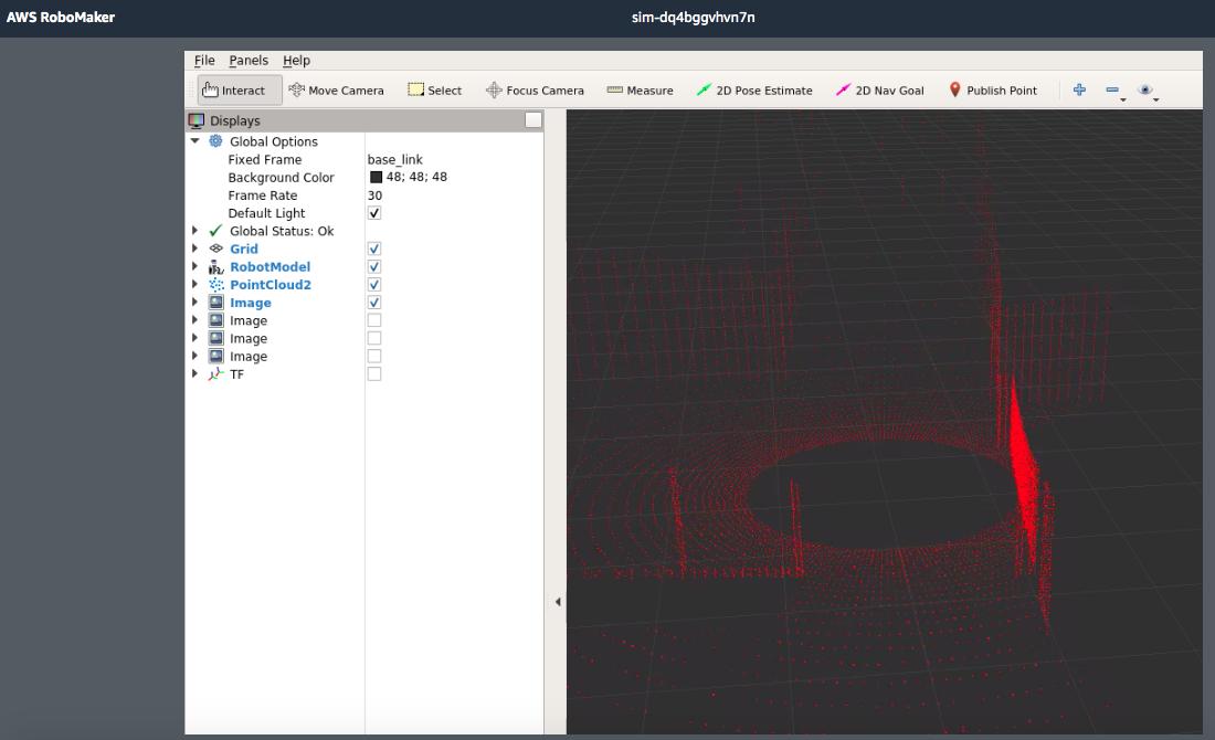 AWS RoboMaker RC Car Simulation RViz
